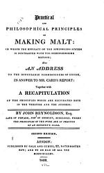 Practical And Philosophical Principles Of Making Malt Book PDF
