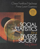 Social Statistics for a Diverse Society With SPSS Student Version 11 0