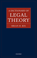 A Dictionary of Legal Theory PDF