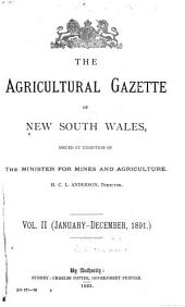 Agricultural Gazette of New South Wales: Volume 2, Issue 1
