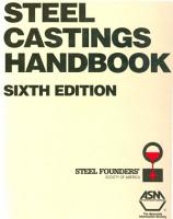 Steel Castings Handbook  6th Edition PDF