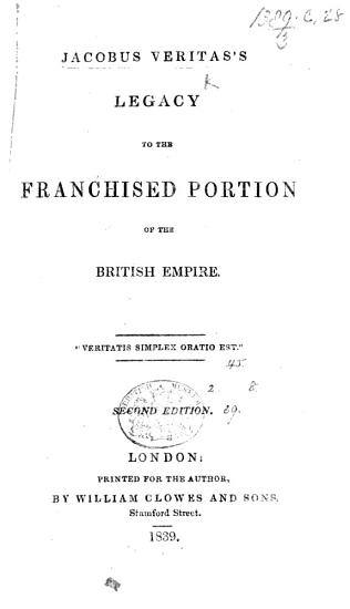 J  V  s legacy to the Franchised Portion of the British Empire     Second edition PDF