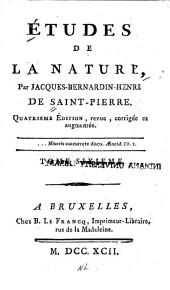 Études de la nature: Volume 6