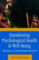 Questioning Psychological Health and Well being PDF