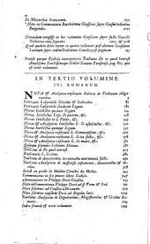 Omnia quae extant opera, ex variis librorum apothecis ... recognita ... notata ... purgata: Volume 1