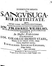 Dissertatio medica de sanguisugarum utilitate