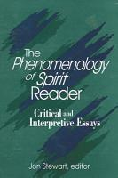 Phenomenology of Spirit Reader  The PDF