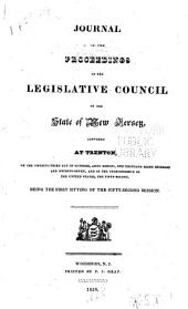 Journal of the Proceedings of the Legislative-Council of the State of New-Jersey: 1827