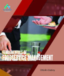 Fundamentals of Foodservice Management PDF