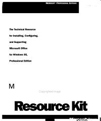 Microsoft Office for Windows 95 Resource Kit
