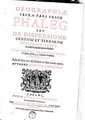 Geographiae sacrae: pars prior [-altera] ...