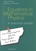 Equations in Mathematical Physics PDF
