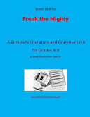 Novel Unit for Freak the Mighty Book