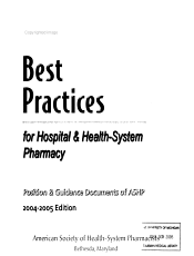Best Practices for Health System Pharmacy PDF