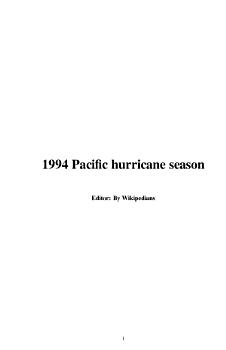 1994 Pacific Hurricane Season PDF