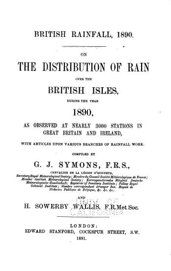 British Rainfall PDF