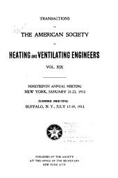 Transactions of the American Society of Heating and Ventilating Engineers: Volume 19