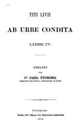 Ab urbe condita: Volumes 4-5