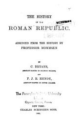 The History of the Roman Republic: Abridged from the History by Mommsen