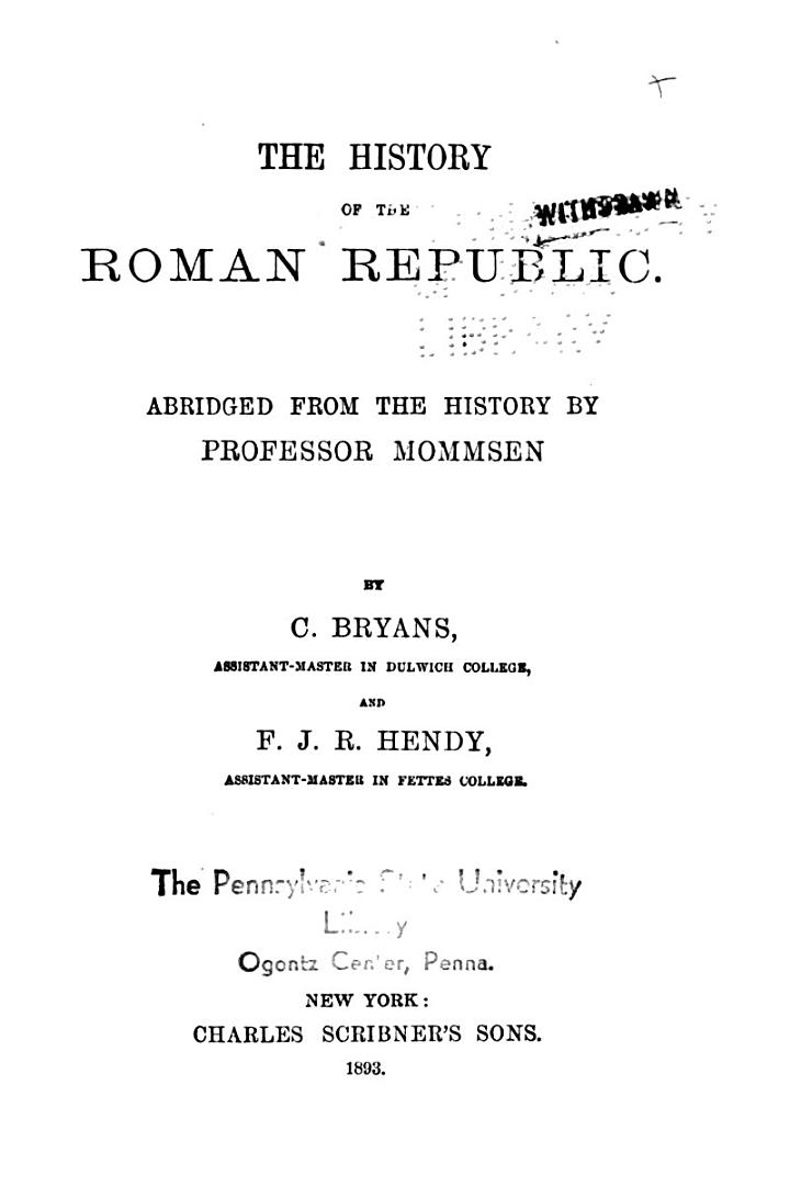 The History of the Roman Republic