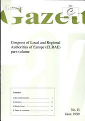 Gazette Congress of Local and Regional Authorities of Europe June 1999, No. 2/99