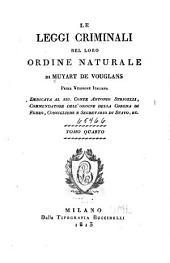 Le leggi criminali nel loro ordine naturale: Volume 4
