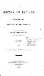 A History of England: From the First Invasion by the Romans, Volumes 1-2