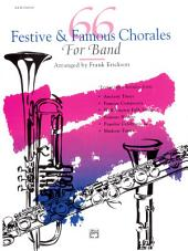 66 Festive and Famous Chorales for Band for 3rd Clarinet