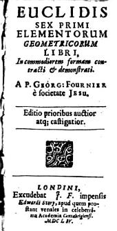 Sex primi elementorum geometricorum libri