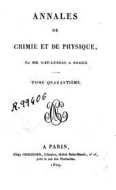 Annales de chimie et de physique: Volume40