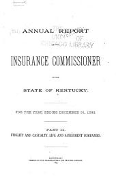 Annual Report of the Insurance Commissioner: Volume 25