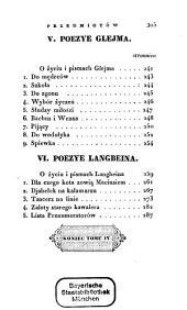 Poezye ¬Brunona ¬Hrabi ¬Kicińskiego: częścią przekładane, częścią oryginalne w 12 tomach, Tom 4