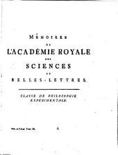 Histoire de l'Académie royale des sciences et belles lettres de Berlin