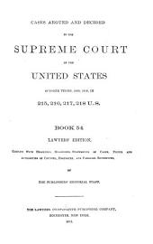 Reports of Cases Argued and Decided in the Supreme Court of the United States: Book 54