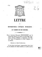 Lettre de Monseigneur l'évêque d'Orléans au clergé de son diocèse