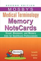 Mosby s Medical Terminology Memory NoteCards   E Book PDF