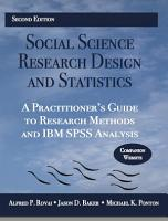 Social Science Research Design and Statistics PDF