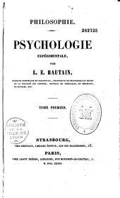 Philosophie: Psychologie expérimentale, Volume1