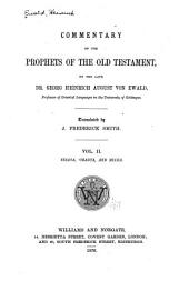 Commentary on the Prophets of the Old Testament: Commentary on the books of Yesaya, 'Obadya, and Mikha