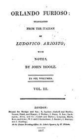 Orlando Furioso: Volume 3