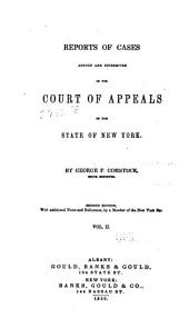 Reports of Cases Decided in the Court of Appeals of the State of New York: Volume 2