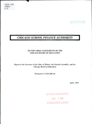 Section 408 d  Assessments of the Chicago Board of Education