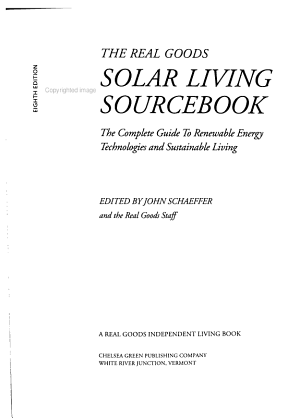The Real Goods Solar Living Sourcebook PDF