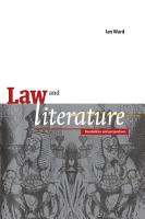 Law and Literature PDF