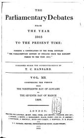 The Parliamentary Debates from the Year 1803 to the Present Time: Volume 13