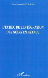 L'échec de l'intégration des noirs en France