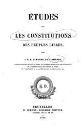 Etudes sur Les Constitutions