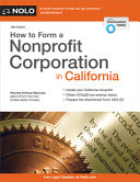 How to Form a Nonprofit Corporation in California PDF