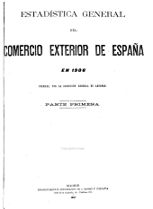 Estadistica General del Commercio Exterior de Espana: Volumen 1
