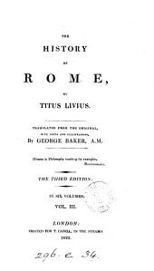 The history of Rome, tr.., with notes, by G. Baker